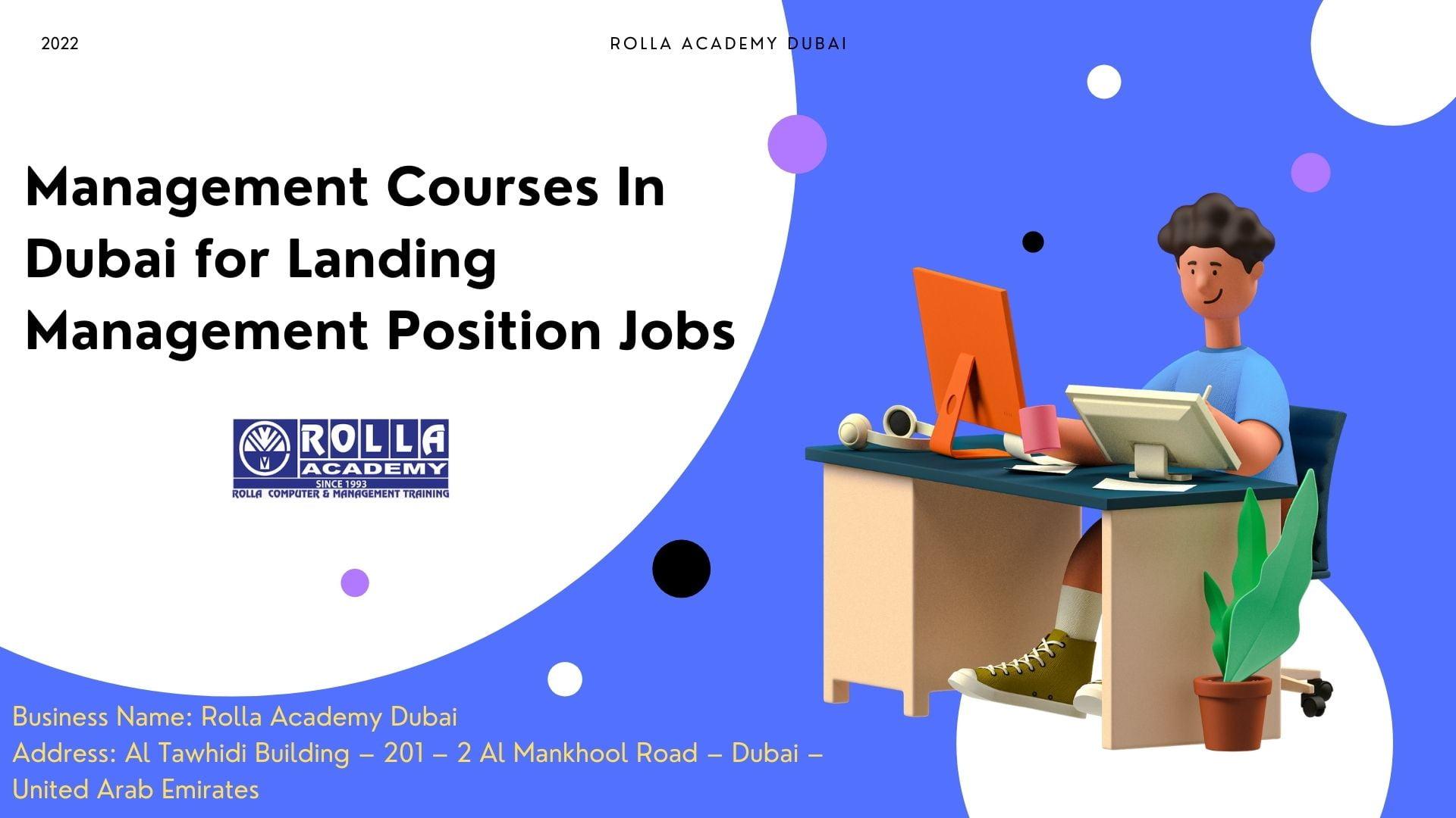 Management Courses In Dubai for Landing Management Position Jobs